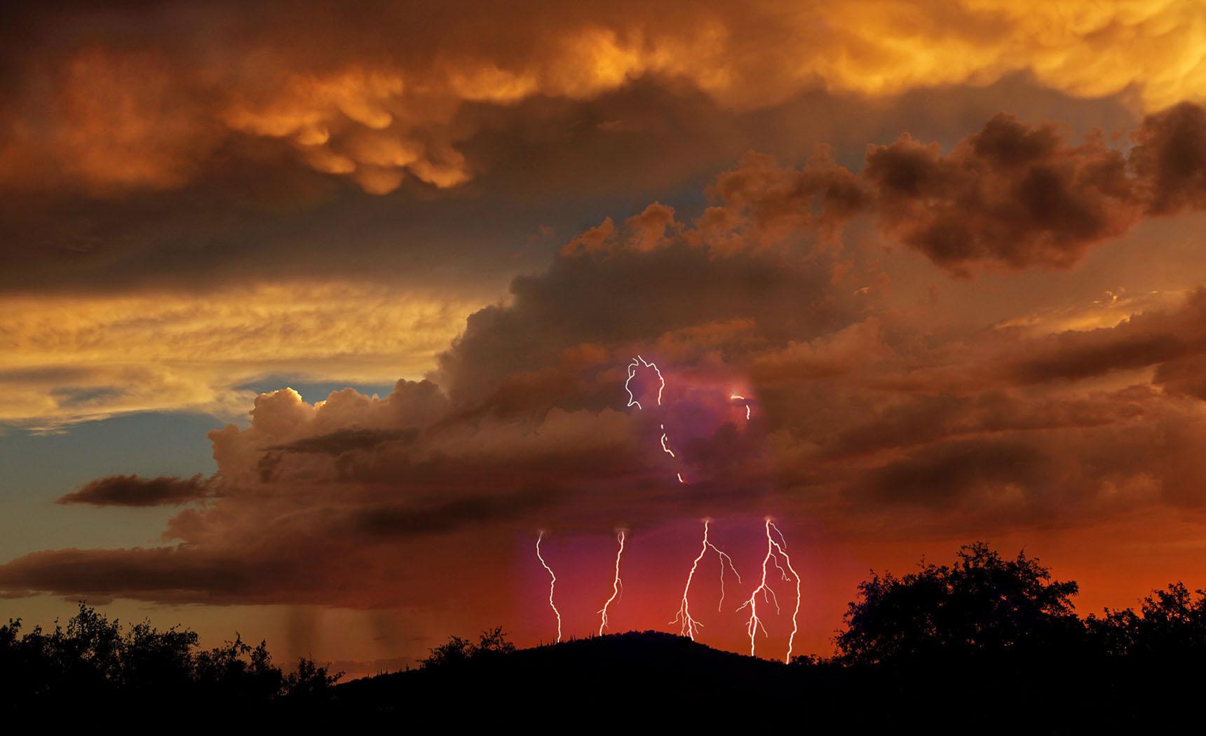 Tucson Storm by Byron Aughenbaugh