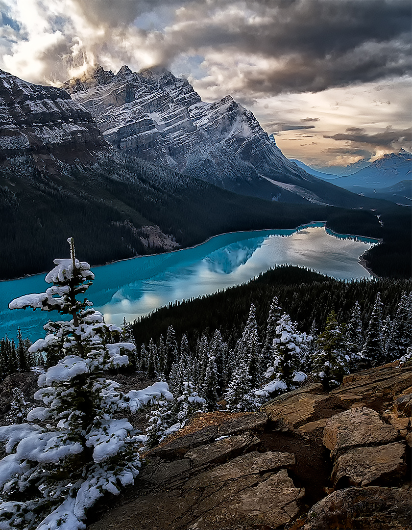 First Snow, Peyto Lake, Canada By Lin Craft