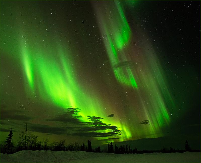 Fairbanks Aurora Borealis By Les Anderson