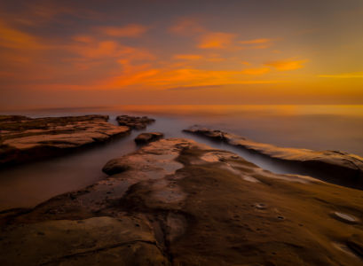 La Jolla Sunset By Richard Strobel