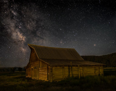 Late Night at Moulton Barn by Richard Strobel