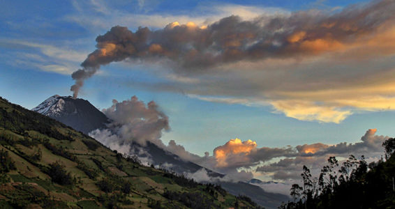 Volcano in Action Ecuador by Christel Lakata