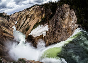 Lower Falls Yellowstone River By Mark Drawbridge